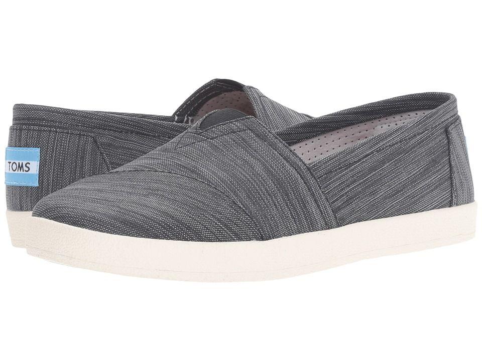 eb94cc575d1 TOMS TOMS - AVALON SLIP-ON (BLACK STRIPE NYLON) WOMEN S SLIP ON SHOES.  toms   shoes
