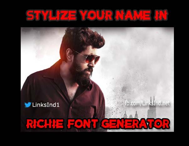 Pin by Links Ind on LinksInd Movie Font Generators | Name generator