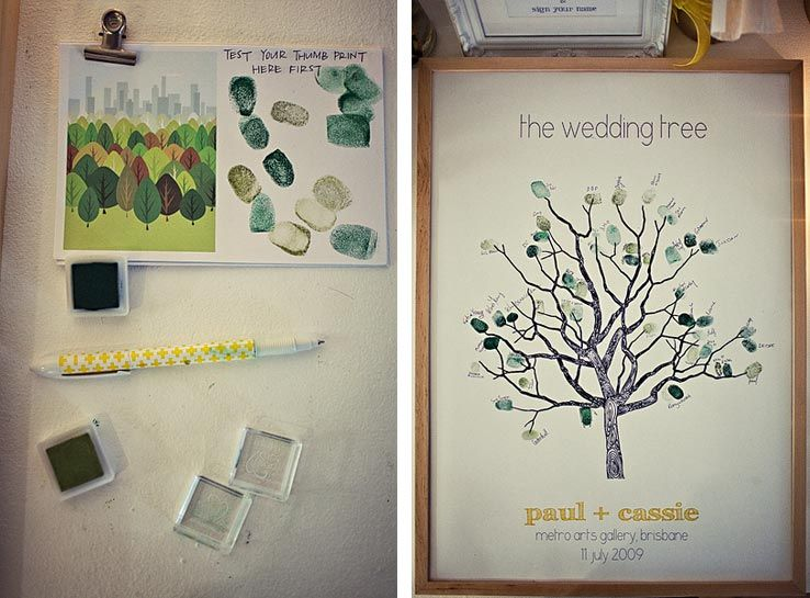 Adoption Party Ideas Wedding trees, Tree guest books and Guestbook - how to make a family tree book
