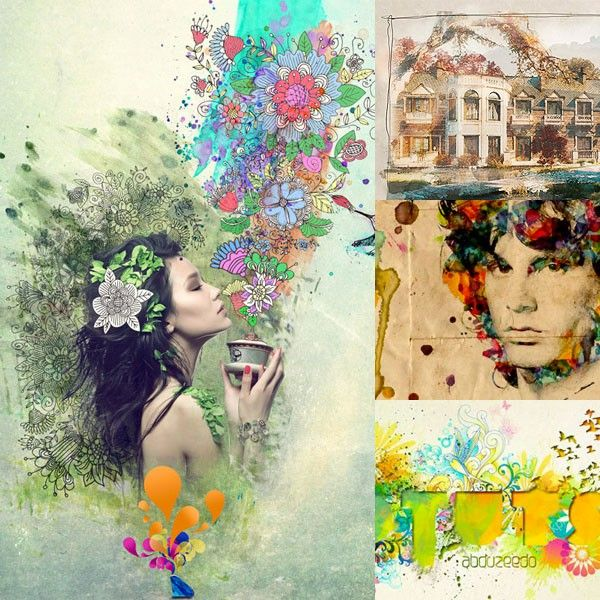 15 Artistic Watercolor Effects Photoshop Tutorials Photo