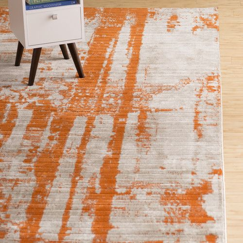 Found It At AllModern   Dahl Light Gray/Burnt Orange Area Rug