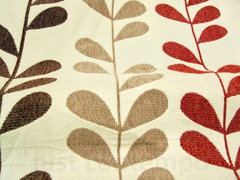 Red And Brown Chocolate Rhythm Heavy Chenille Eyelet Curtain Curtains Dashandalbert10year