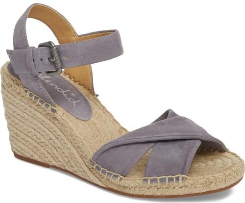 Splendid Fairfax Espadrille Wedge Sandal In Grey An Espadrille Wrapped Wedge Heightens The Laid Back Summery Appe Espadrilles Wedges Wedge Sandals Espadrilles