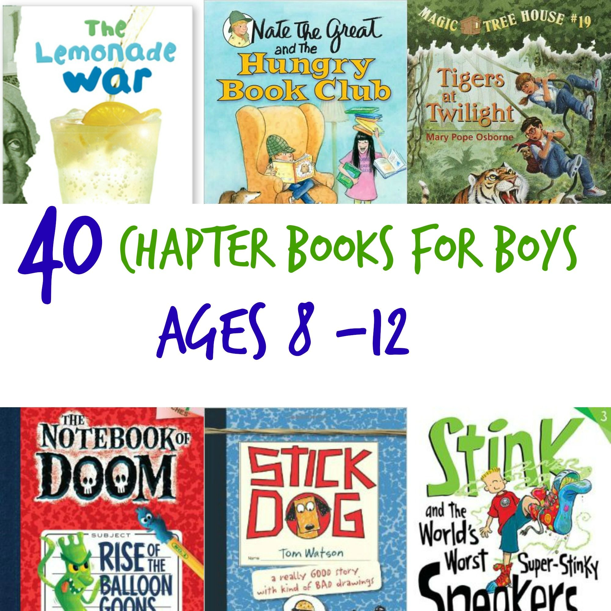 It can be a bit of a challenge to find chapter books for boys that ...