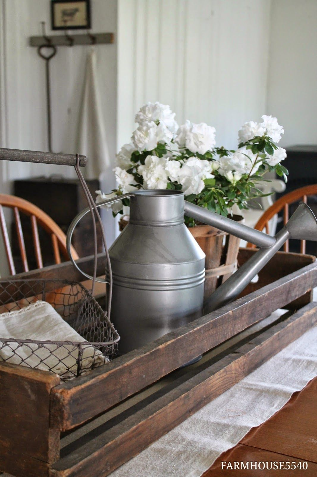 Dining Room On A Sunny Morning Farmhouse Table Centerpieces