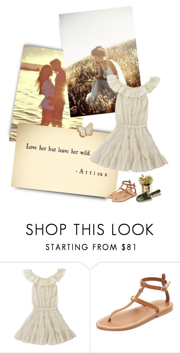 """Light spring"" by priscilla12 ❤ liked on Polyvore featuring K. Jacques, Dot & Bo, love, white and sandals"