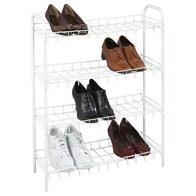 4 tier wire shoe rack shoe rack big