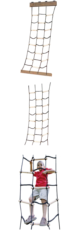 Swings Slides And Gyms 16515: Cargo Net Climbing Rope Kids Backyard  Playground Equipment Tree House