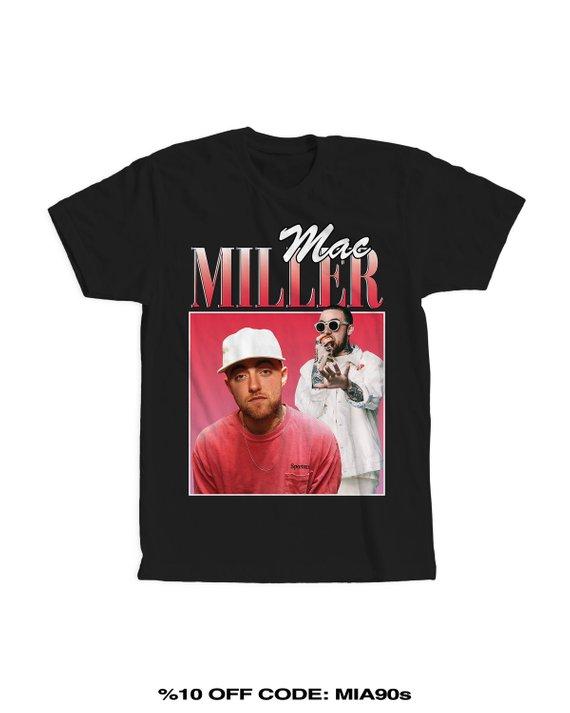 127aed374 Mac Miller Tshirt, mac miller shirt, 90s tees, 90s shirt, 90s kids, tumblr  clothing, hip hop clothin