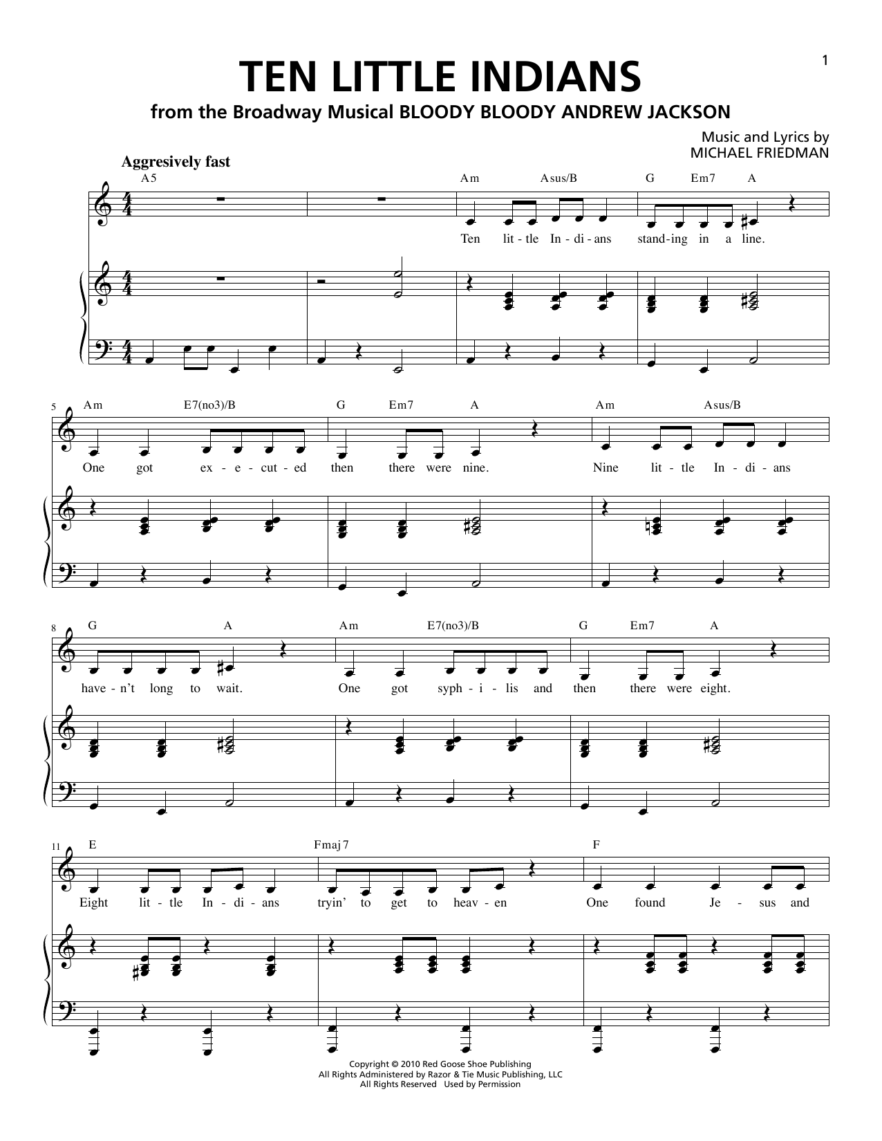 Image Result For Ten Little Indians Piano Duet