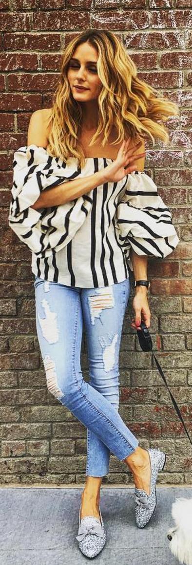Olivia Palermo wearing Shoes – LolitaBlu Shirt – Johanna Ortiz