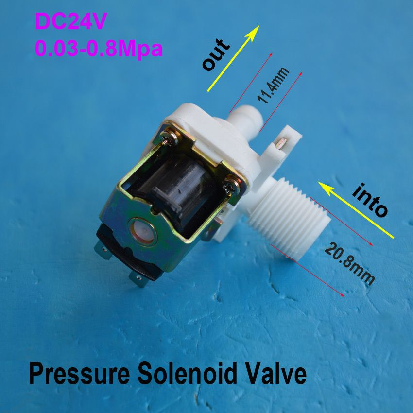 Dc 24v Electric Solenoid Valve Flow Switch Magnetic Vertical Flow Water Air Inlet 1 2 Small Dishwasher