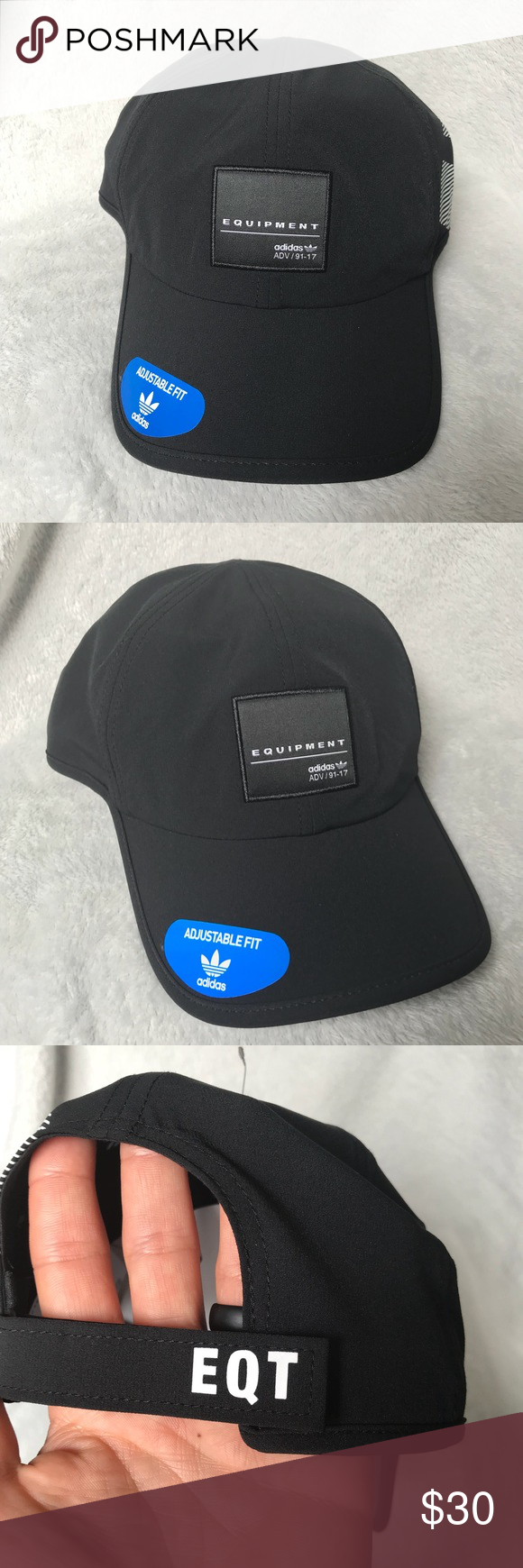 9fcf97fa Adidas EQT ADV dad hat Comfortable drifit material, adjust Velcro strap in  the back.