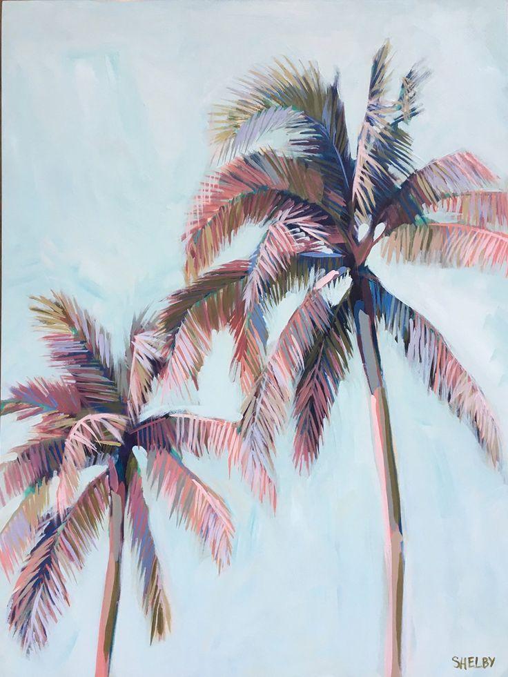 Palm Tree 22 Limited Edition Print Jen Halverson Edition Halverson Jen Limited Palm Print Tree Palm Tree Artwork Palm Tree Drawing Palm Tree Art