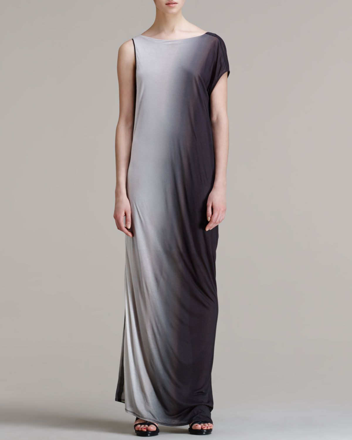 Shadow Ombre Long Dress by Helmut Lang