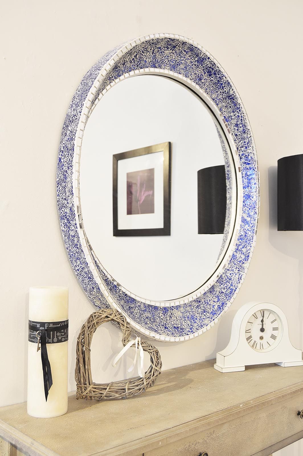 Mirror Outlet Has The Largest Range Of Antique Design Mirrors Including Large Round Mosaic Blue Wall X