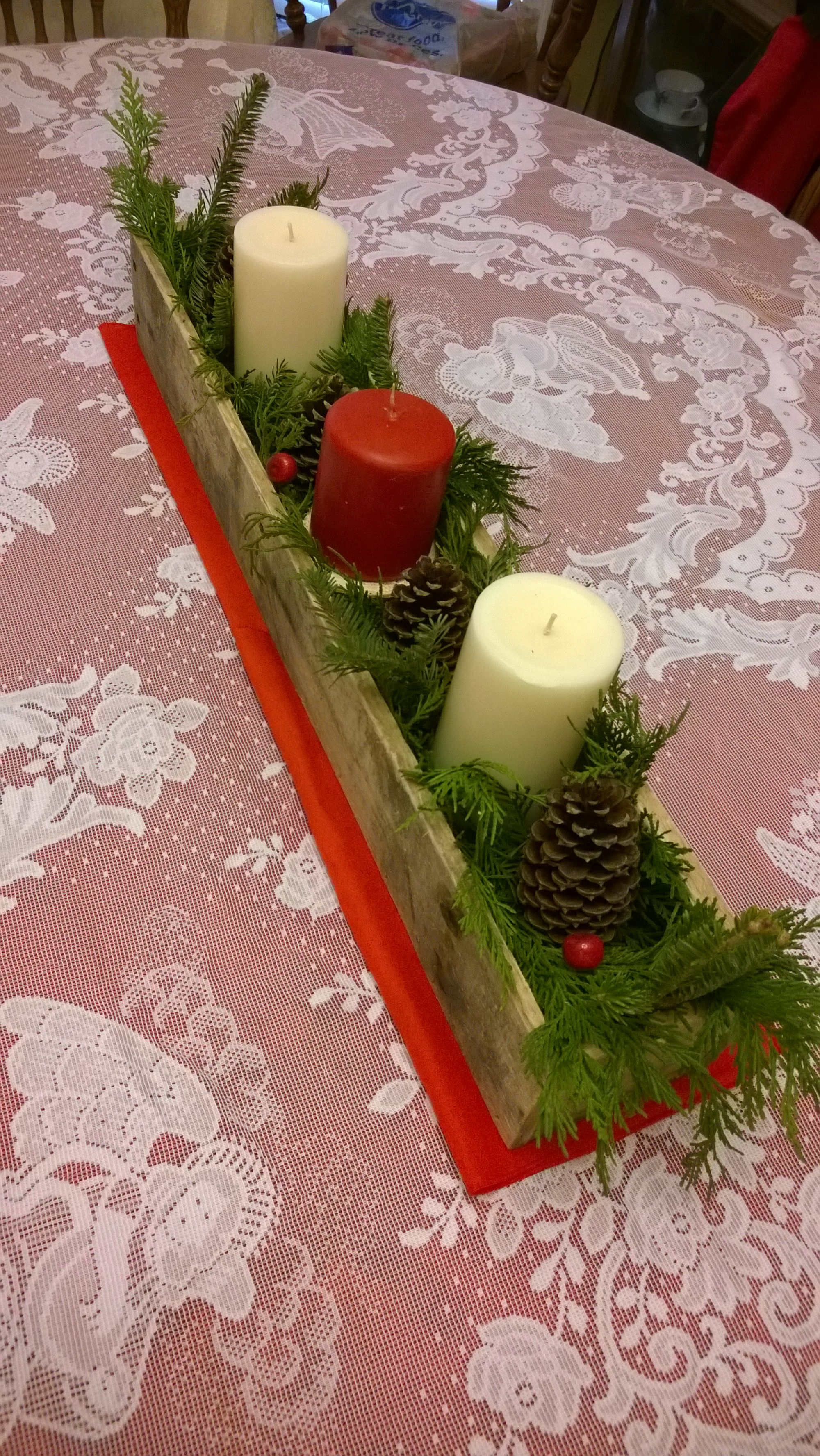 Pallet Wood Christmas Table Centerpiece Table Centerpieces Diy Christmas Table Centerpieces Pallet Wood Christmas
