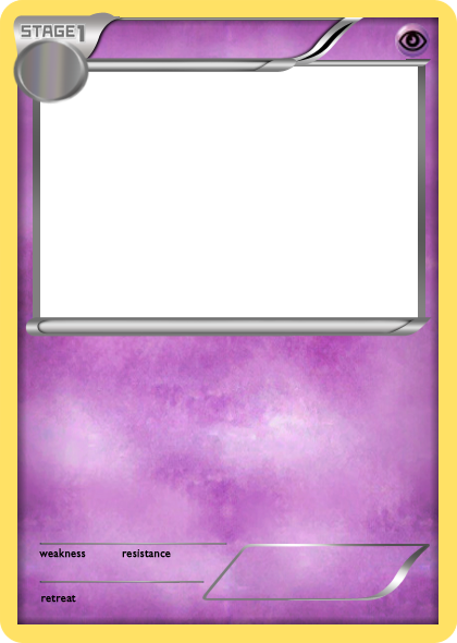 Bw Psychic Stage 1 Pokemon Card Blank By The Ketchi Pokemon Birthday Card Pokemon Cards Pokemon Card Template