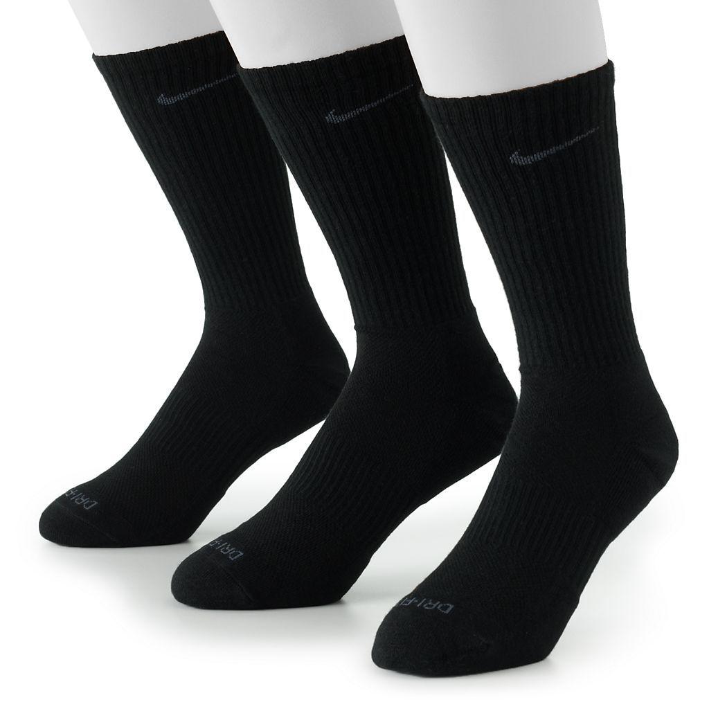 Mens nike 3pk drifit crew socks kohls nike men