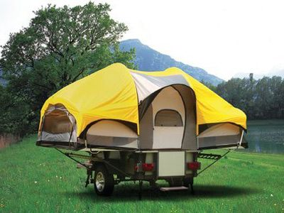 Coleman Switchback Tent A Tent And A Utility Trailer