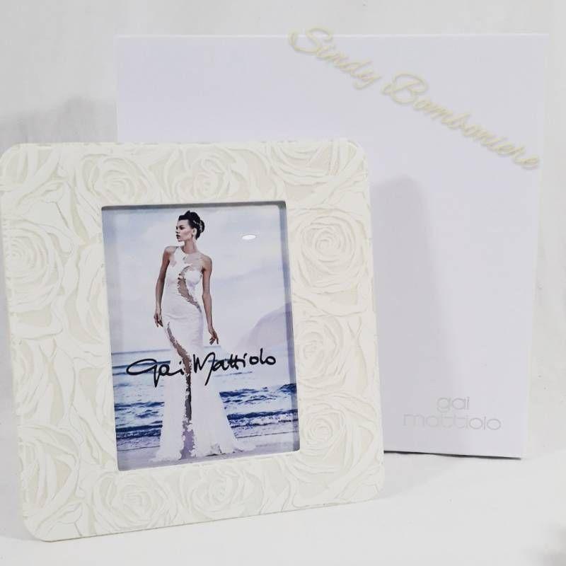 the best attitude d809a 2f6d7 Cornice portafoto grande rose bianche matrimonio ...