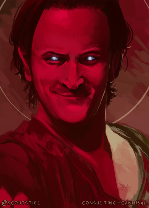 To Add To My Relentless Gabriel Streak Here S A Super Speedy Messy Paint I Did Of Gabe Last Night Supernatural Art Gabriel Supernatural Supernatural Drawings