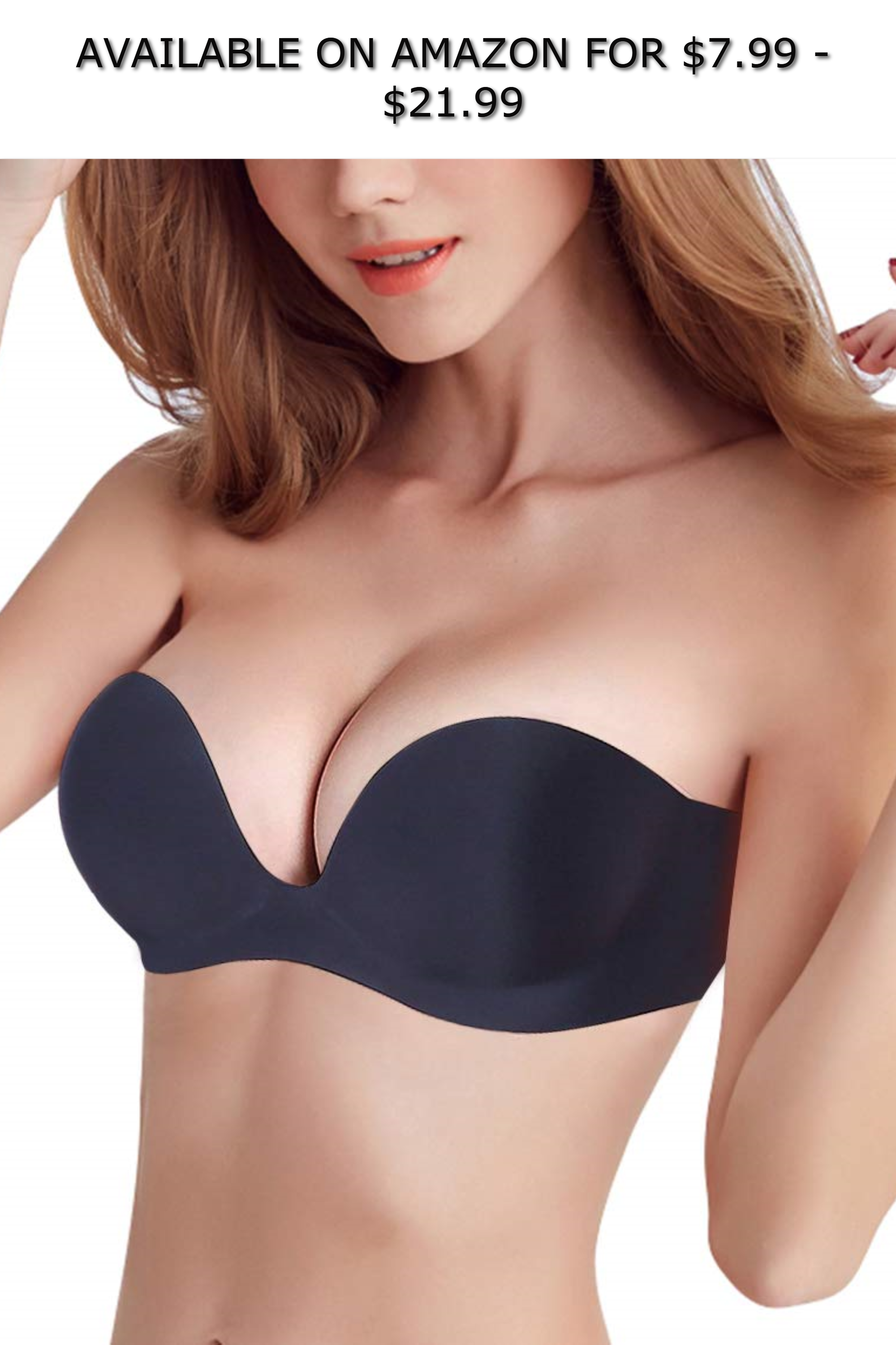 9d1c60180f703 Strapless Backless Sticky Bra for Women Plunge U Shape Bras Push up Self  Adhesive Bras ◇