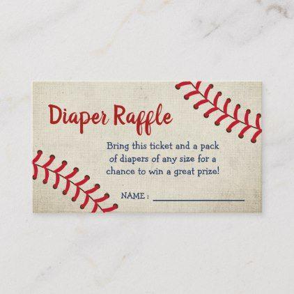 Vintage Baseball Sports Baby Shower Diaper Raffle ...