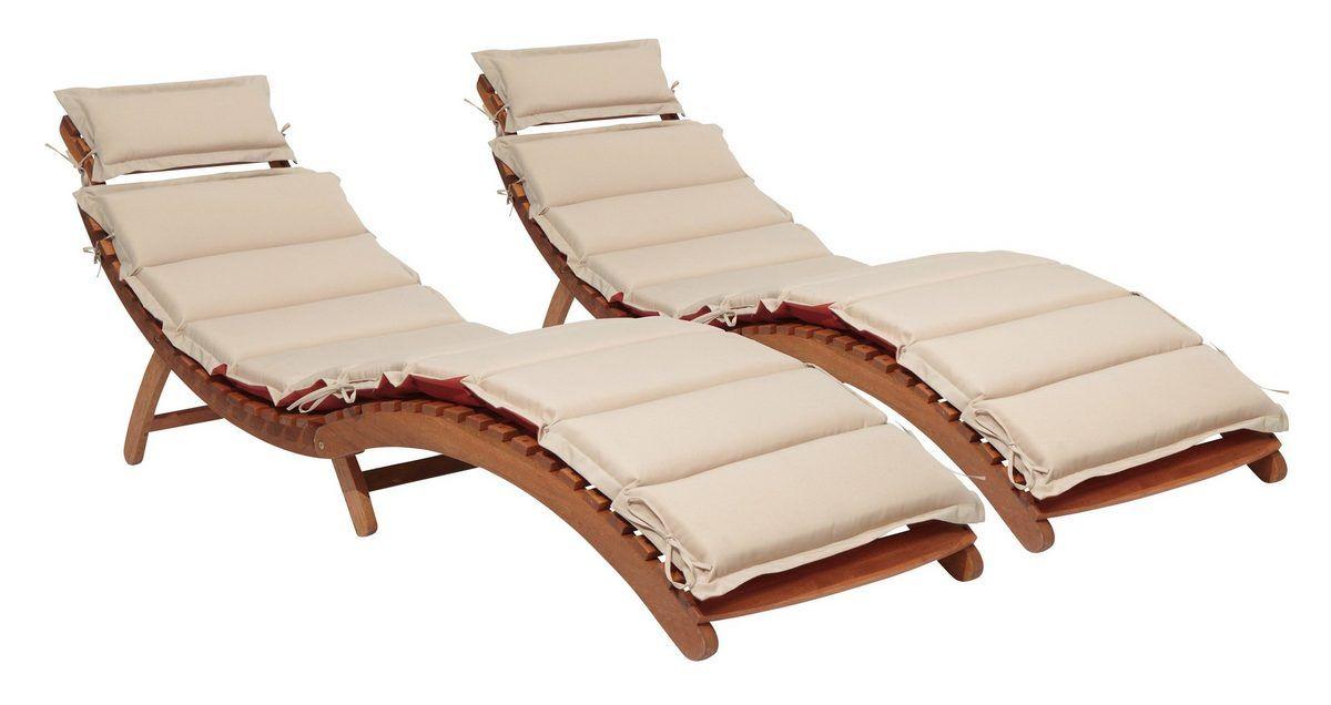 Merxx Gartenliege Havanna 2er Set Eukalyptus Klappbar Inkl Wendeauflage Online Kaufen Otto Gartenliege Holzliege Sonnenliege