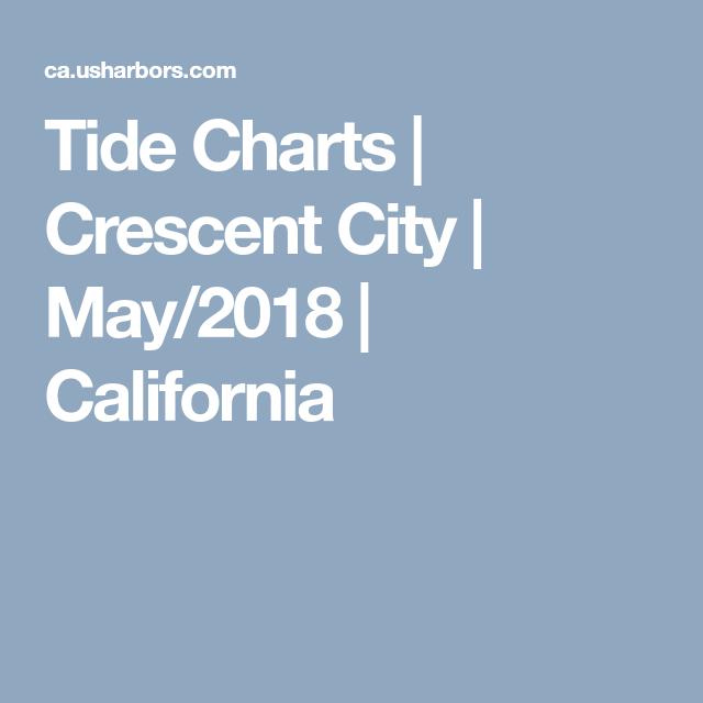 Tide Charts Crescent City May2018 California Oregon
