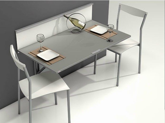 Table murale rabattable wall by cancio tables for Table rabattable murale