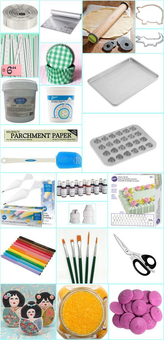Baking Tools List Cake Decorating Tips For Beginners  Cake Decorating  Pinterest