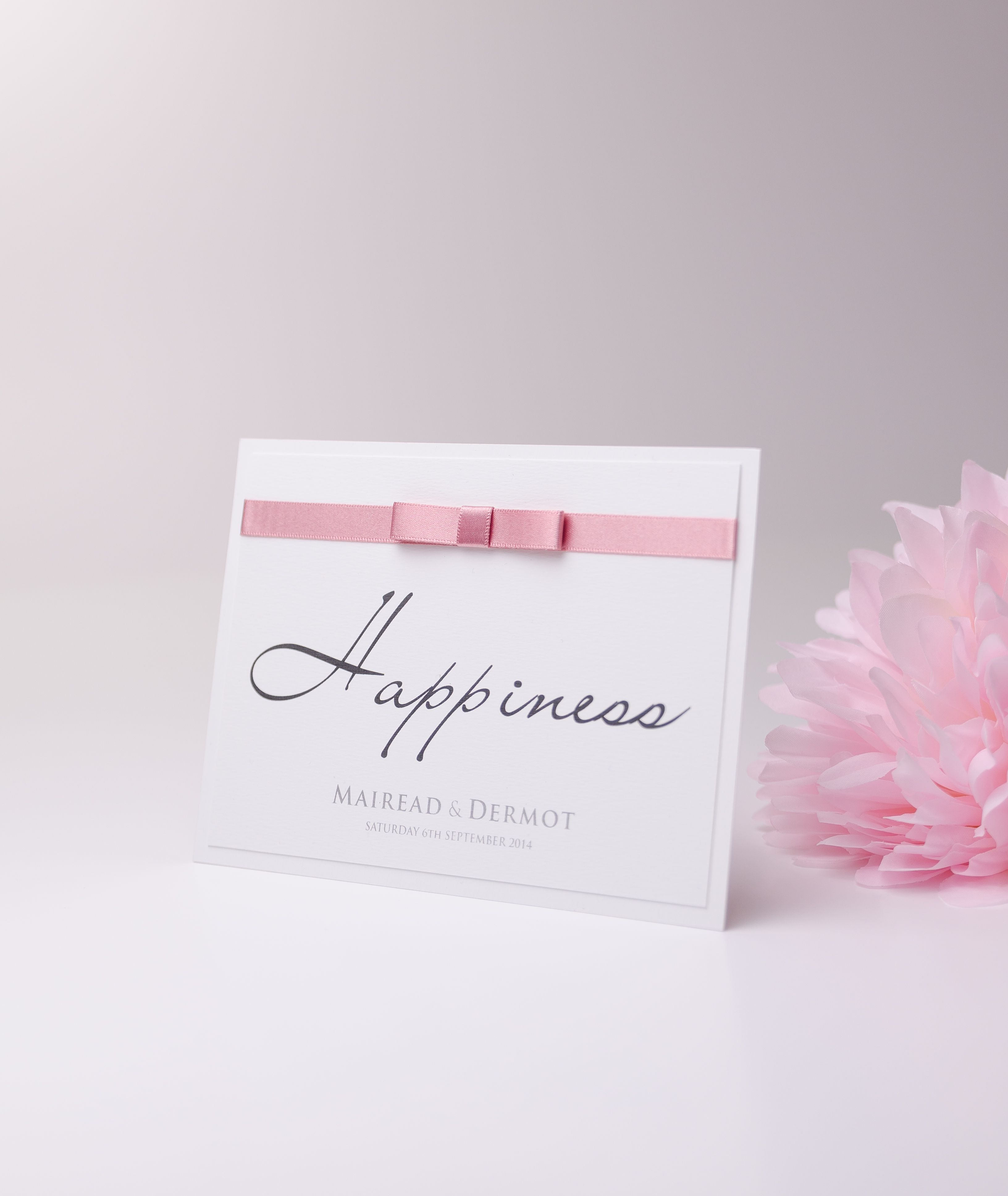 Wedding Table number/name #wedding #weddingplanner #weddingplanning #pinkribbon #bow #gettingmarried #handmade #weddingstationery