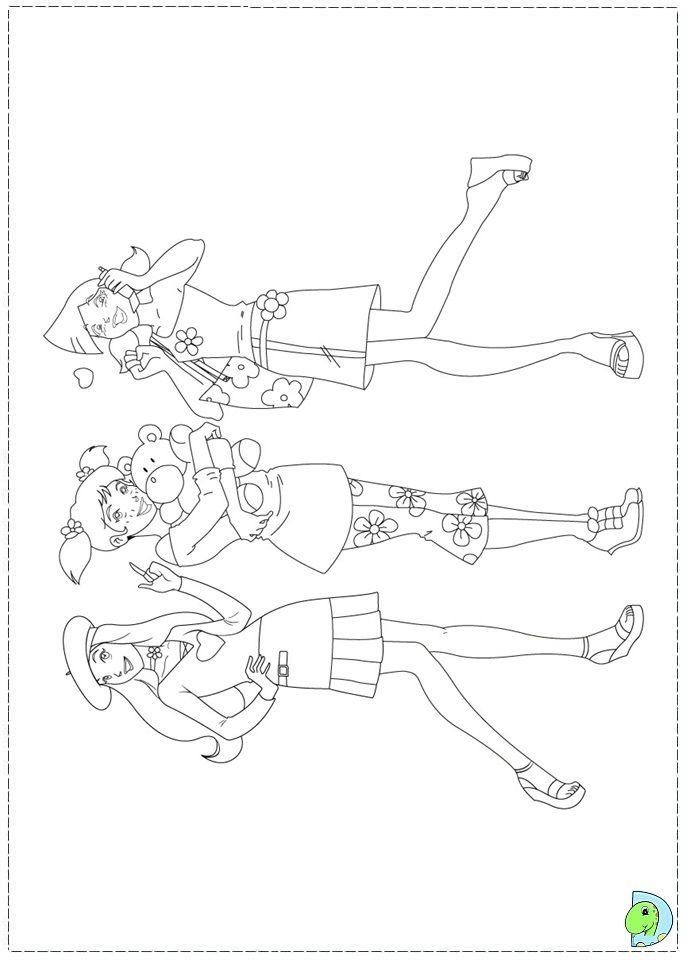 Totally Spies Models coloring picture for kids | Totally Spies ...