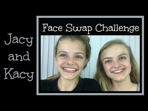 Face Swap Challenge Jacy and Kacy YouTube Face swaps