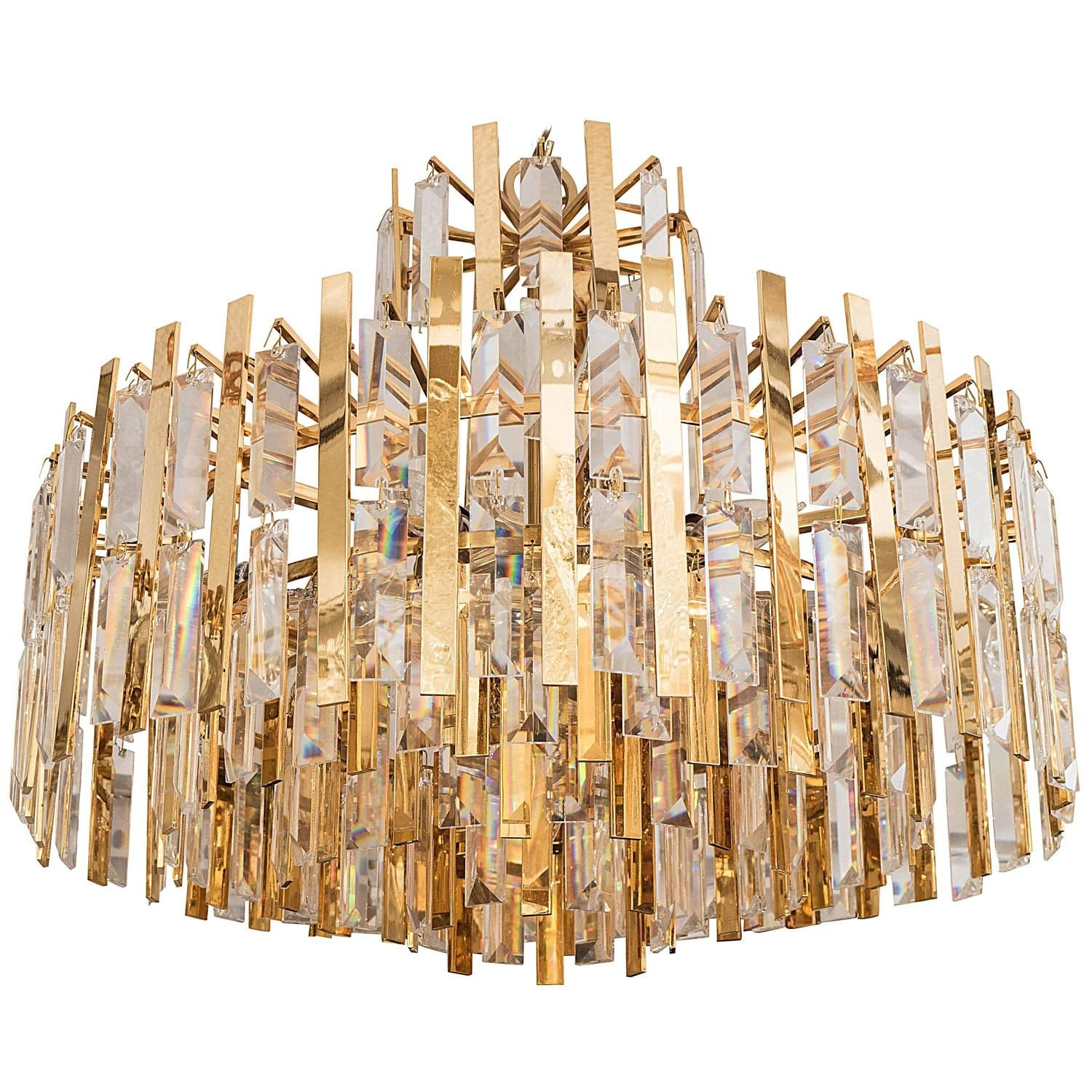 Brass suspended prism chandelier chandeliers pendant lighting brass suspended prism chandelier aloadofball Choice Image