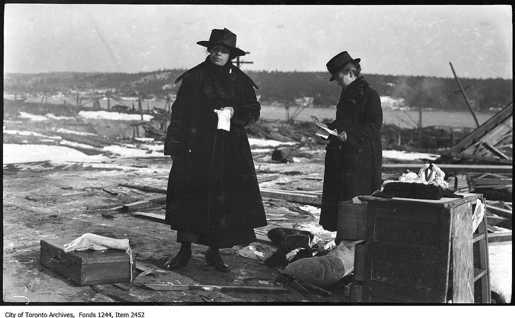 Women Sorting Through Rubble After Halifax Explosion Halifax Explosion Halifax Explosion