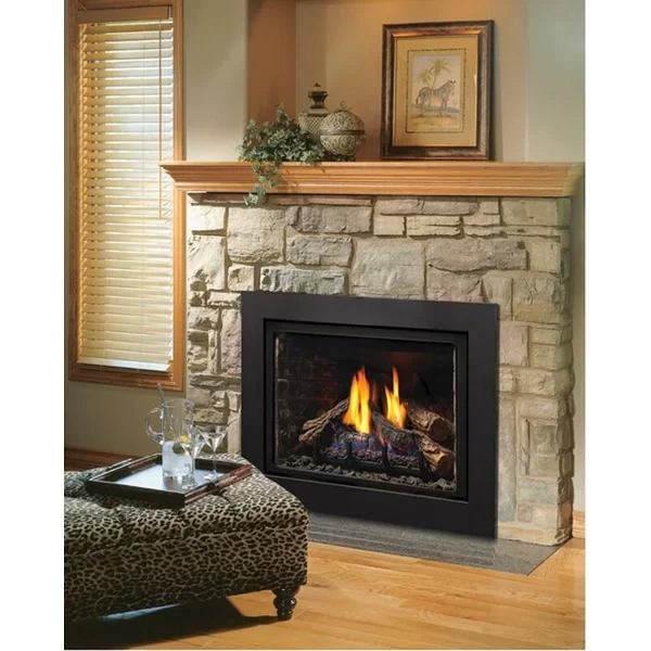 This Unique Fireplace Makeover Is Undeniably An Interesting Style Technique Fireplacemakeover Propane Fireplace Fireplace Inserts Gas Fireplace Insert