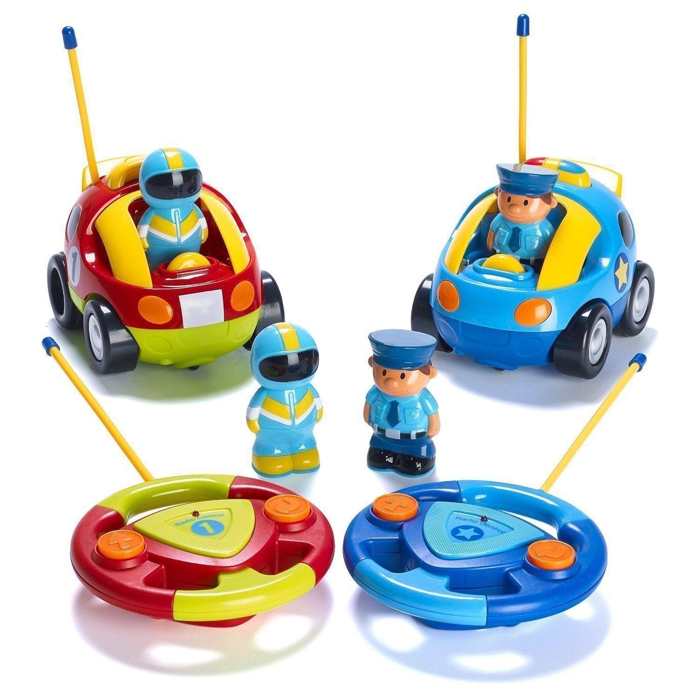 Toys car for baby  PCs Cartoon Kids RC Police Car Race Car Toys Radio Control