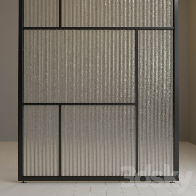 3d models: Other decorative objects – Glass partition 72