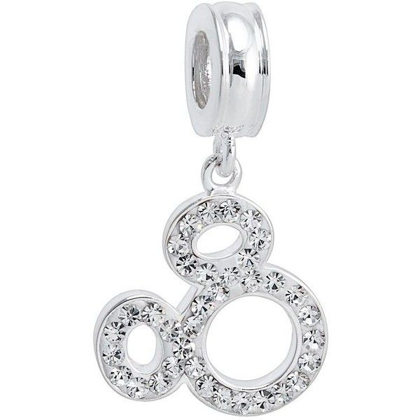 Disney Mickey Mouse Crystal Sterling Silver Charm ($75) ❤ liked on Polyvore featuring jewelry, pendants, grey, crystal jewelry, crystal charms, sterling silver jewellery, mickey mouse jewelry and sterling silver charms pendants