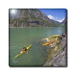 "Alaska, Endicott Arm, Fords Terror. Sea kayaker - US02 GLU0037 - Gary Luhm - 12 Inch Ceramic Tile by 3dRose. $22.99. Dimensions: 12"" H x 12"" W x 1/4"" D. Construction grade. Floor installation not recommended.. Image applied to the top surface. Clean with mild detergent. High gloss finish. Alaska, Endicott Arm, Fords Terror. Sea kayaker - US02 GLU0037 - Gary Luhm Tile is great for a backsplash, countertop or as an accent. This commercial quality construction gra..."