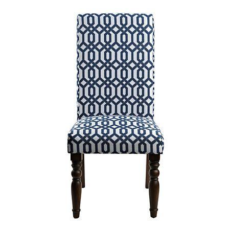 Navy Lattice Parsons Chair