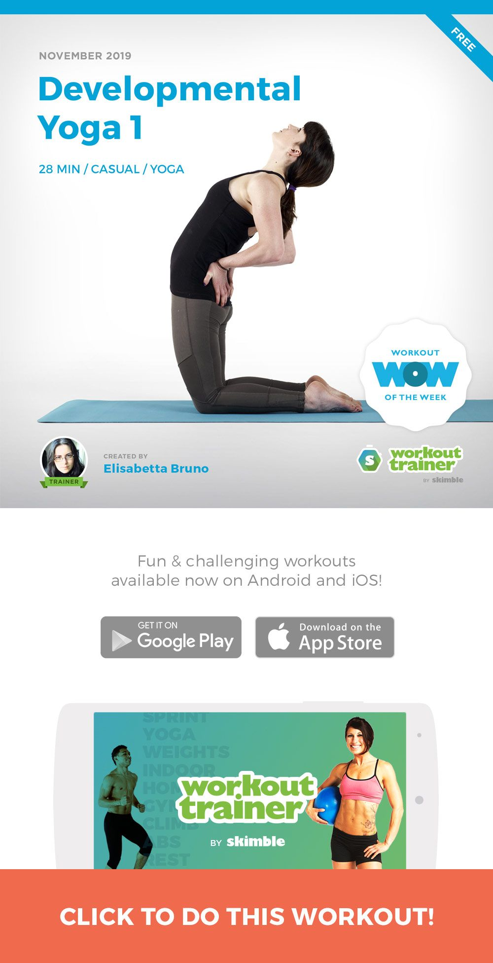 Developmental Yoga 1 Workout, Online personal training