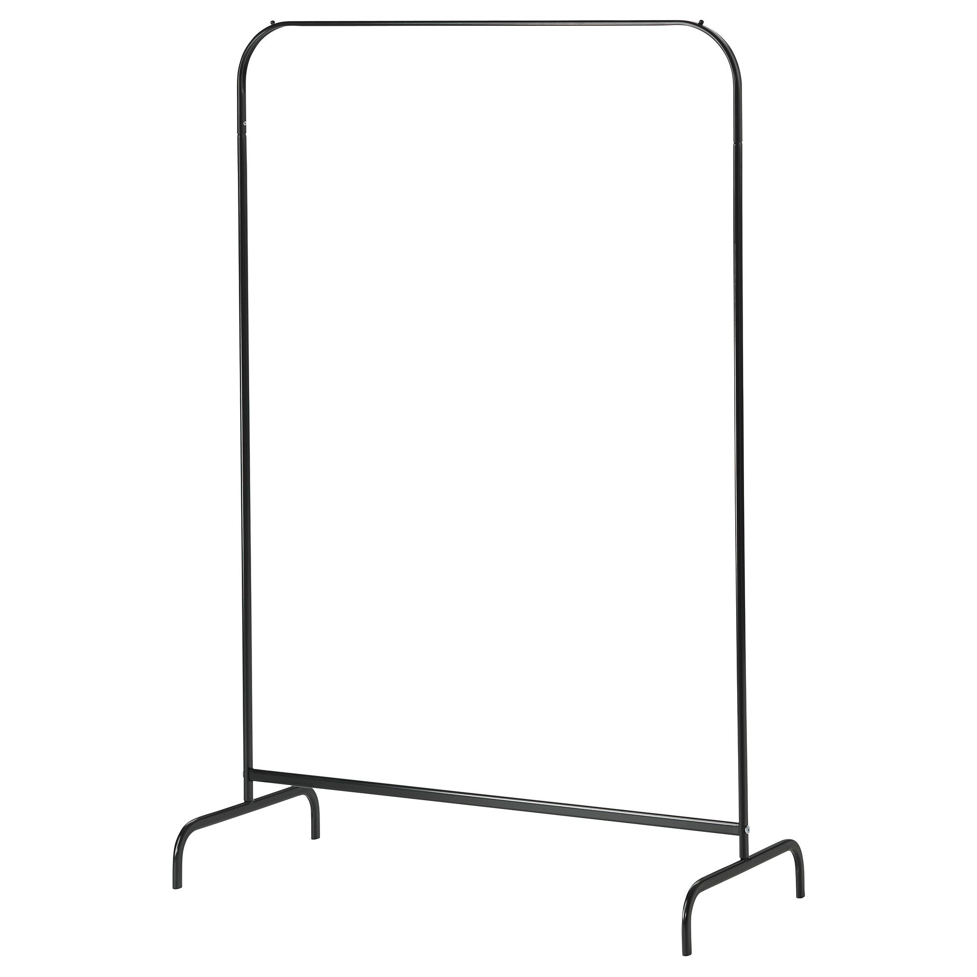 mulig clothes rack black ikea 999 curved edges may mean the clothes will slip