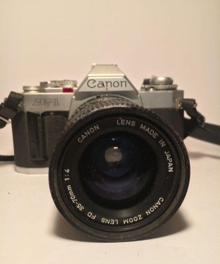 Canon AV-1 35mm SLR Film Camera Body with canon 35 70 mm lens