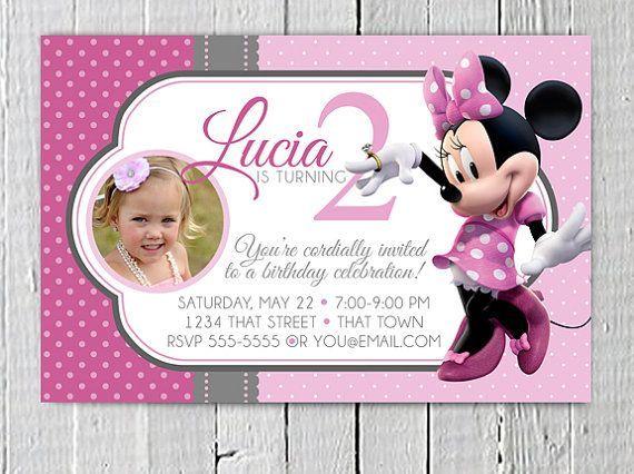 Customized Minnie Mouse Birthday Invitations Free Printable