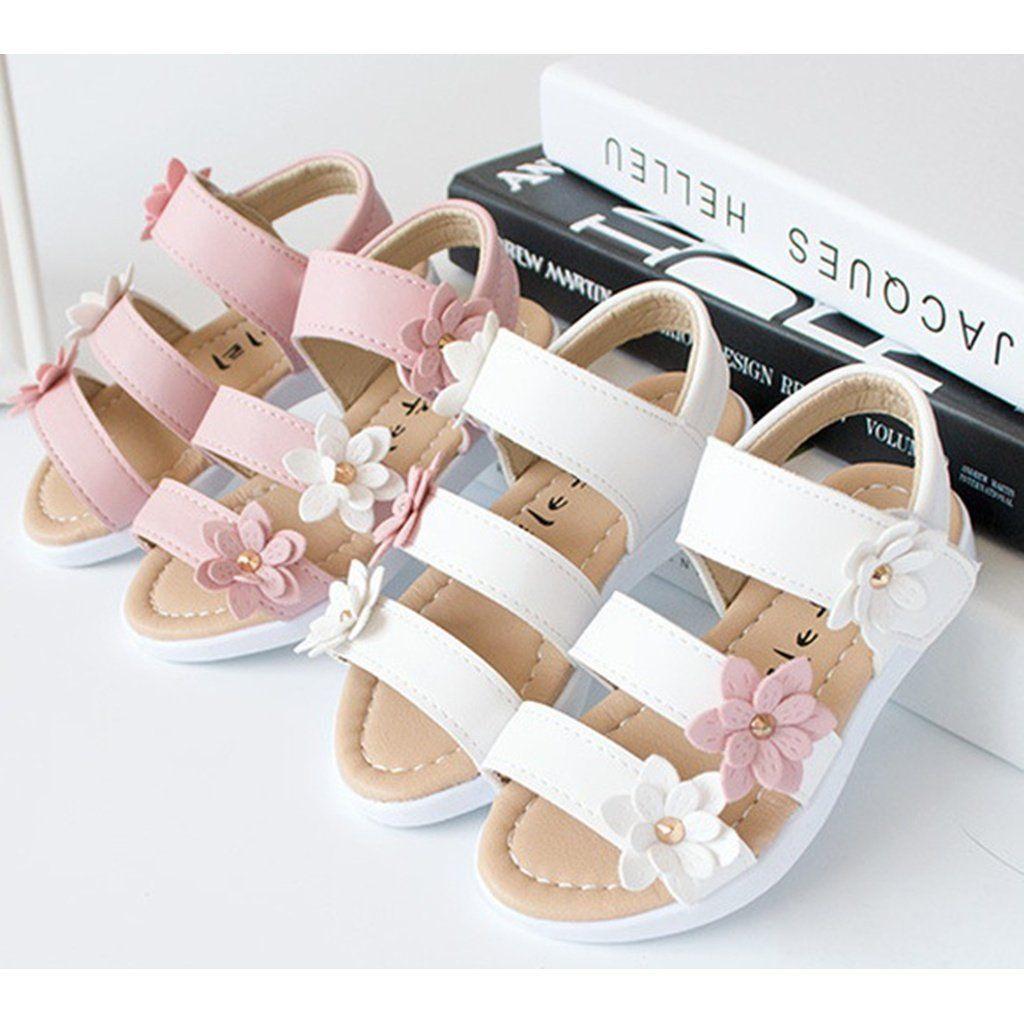 Sommer Stil Kinder Sandalen Mädchen Prinzessin Schöne Blume