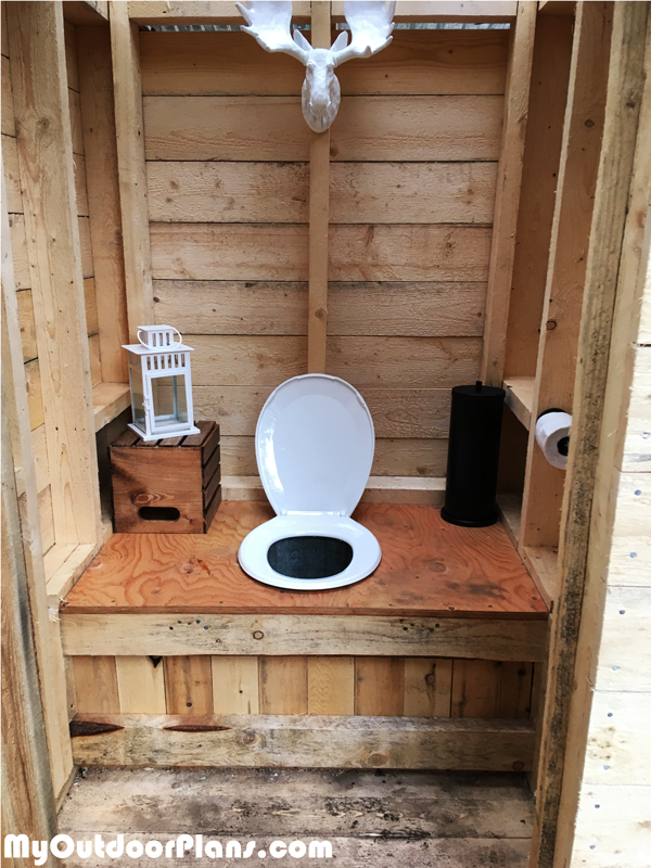DIY Simple Outhouse MyOutdoorPlans