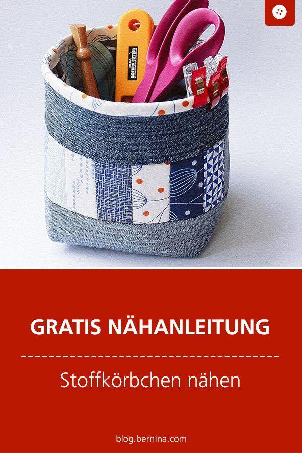 Photo of Nähanleitung für einen Stoffkorb mit recycelten Jeans